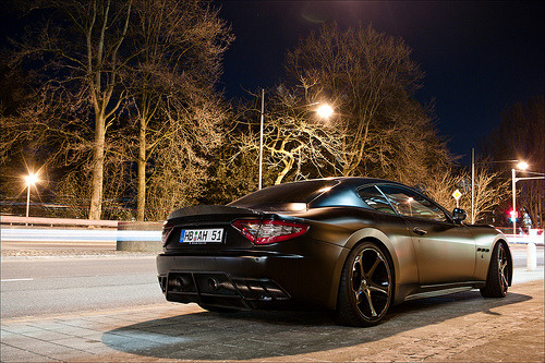 Flat black Maserati GranTurismo S tuned by Anderson Germany. Photo by Jan G. Photography (via)