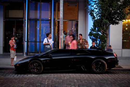 Black on black Lamborghini Murcielago LP640 Roadster. Photo by Hayden G. Photography.