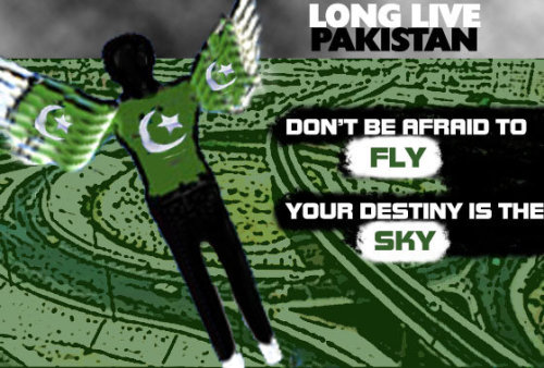 Something i made years back. Long Live PAKISTAN. Re-blog.