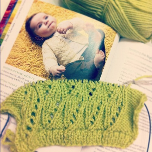 Trying the knitting pattern for customer  (Taken with instagram)
