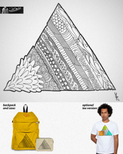 Triangle Doodle. Score it @Threadless for a chance to see it on a backpack. Check it @Society6, too.
