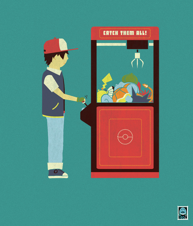 handsoffmydinosaur:  Claw Machine. T-Shirt available here! Don't forget to check out my Facebook Page for more stuff!
