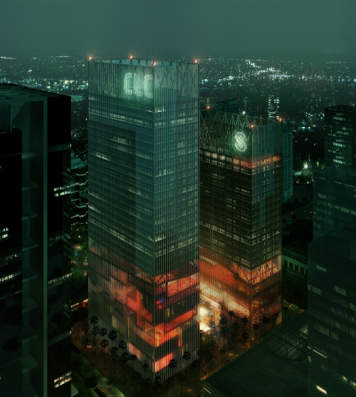 REX CLC & MSFL Towers proposal, Shenzhen, China, 2011. ArchDaily
