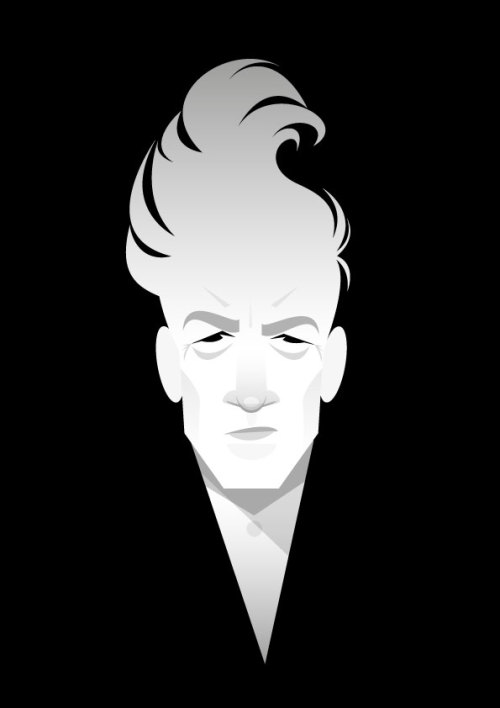 The David Lynch, by @stan_chow. stanleychowillustration:  Film-maker.