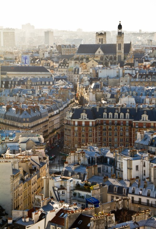 travelingcolors:  Paris rooftops | France (by klinkvort)