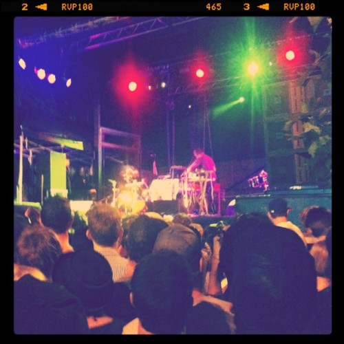 SBTRKT cowbell party! (Taken with Instagram at St. Jeeome's laneway festival)