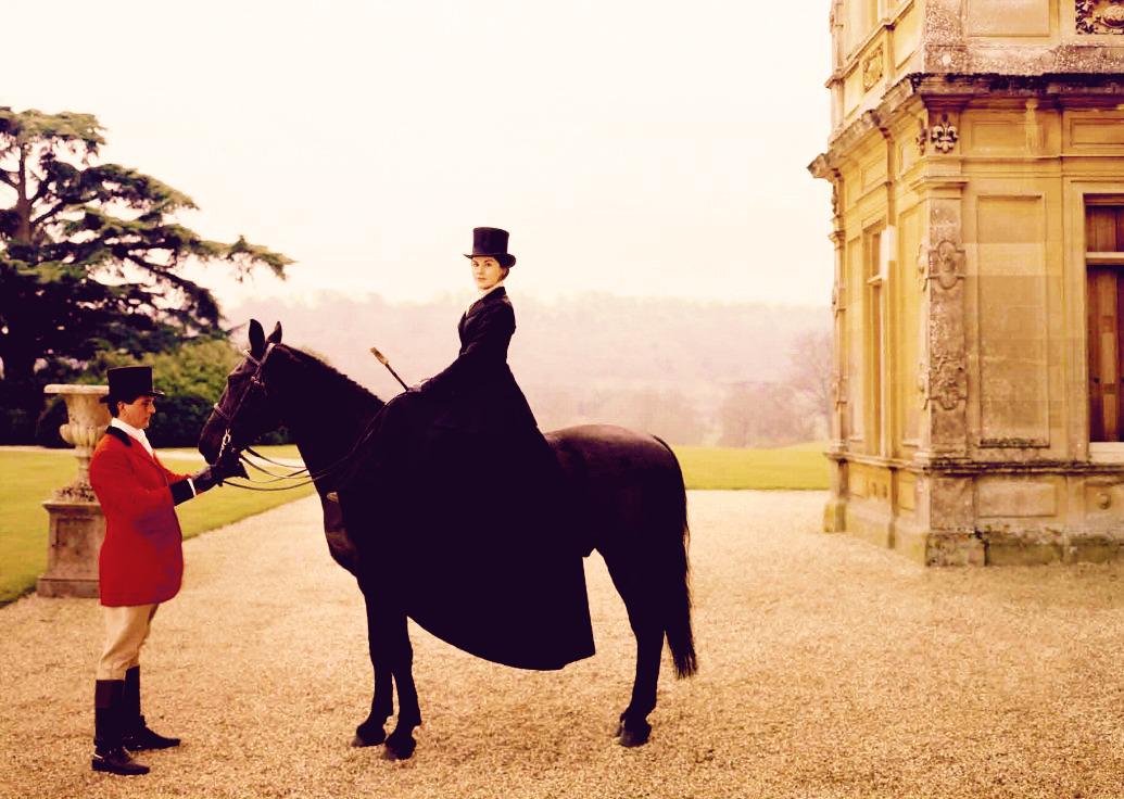 cora-crawley:  Look down, then up. Lady Mary is on a horse.   Too funny!! Love the old spice commercials…