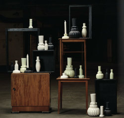 Vases and candlesticks by Icelandic Finnsdottir Design.
