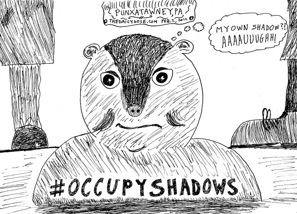 Here's hoping you had a happy groundhog day with this special #occupyshadows cartoon by laughzilla for the daily dose webcomic
