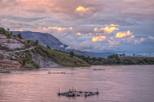 Sunset over Lake Toba on Flickr.Via Flickr: Going through my archives of the few Lake Toba landscape shots, I found another sunset shot, taken a bit earlier than the others with more pastel tones. Processed with Lightroom 4 Beta and Photomatix Pro and Color Efex Pro 4 .artflakes • google+ • twitter • facebook •  tumblr  •  500px •  blog All Rights Reserved, no reproduction without prior permission. © Alexander Ipfelkofer