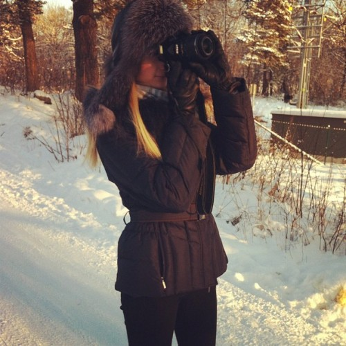 #taking #picture #me#nikon #camera #photography #sweden #winter #wonderland #paradise #snow #february #girl #saturday #2012  (Taken with instagram)
