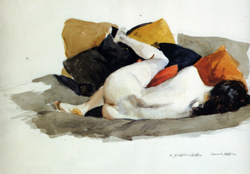 phassa:  Hopper, Edward - Reclining Nude