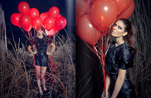 """99 Red Balloons"" G.O.O.D.S. Magazine Editorial by Emily Soto on Flickr.Via Flickr: ""99 Red Balloons"" editorial piece for The G.O.O.D.S Magazine. Be sure to go to thegoodsmag.com/ to view the entire March 2011 issue!! :D NEW Behind the Scenes Video from this shoot! :Dwww.youtube.com/watch?v=0GyUeflyq8A Facebook 