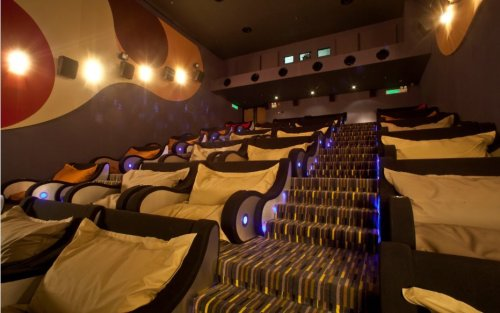 a cuddle friendly movie theater!