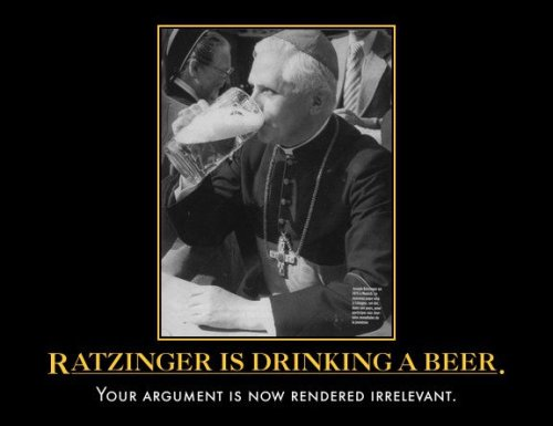 "The Pope and Beer: 9 Photos to Brighten Your Day Our Pope is the coolest. Site also includes links to a number of ""beverage blessings""!"