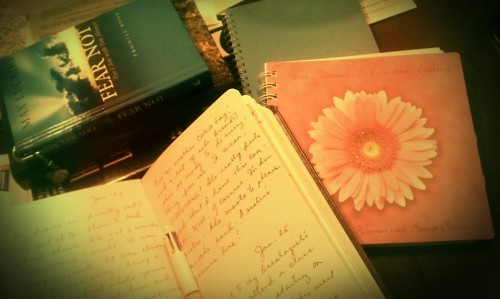 "I plan to write everything on my journal, everything about this new journey I'm in. I need to read books, journals, letters from friends and family (so nice of them) that will help me get through the journey, and jot down every appointment (it's kinda fatal to miss one). They said chemo drugs will give you ""chemo brain"",a fogged up brain! Not good. So hopefully these would help me retain my sanity and get me through my normal everyday life."