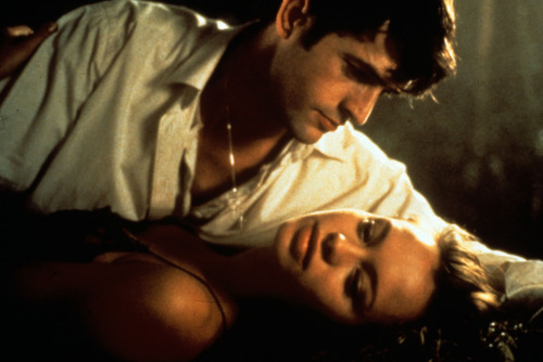 coldbloodedbeast:  Rupert Everett and Anna Falchi in Dellamorte Dellamore (1994).  Love this film. So beautiful and thrilling. It`s one of my favorite horrors. And it`s Anna Falchi`s ideal role. It`s pity her only horror role.