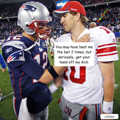 lolpats:  TOM ISSUES ELI A WARNING