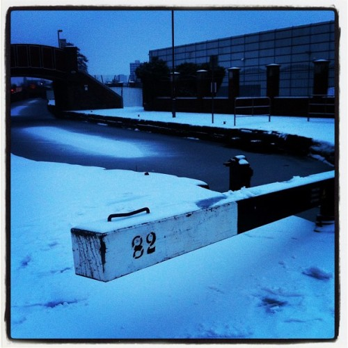 Frozen Canal (Taken with Instagram at Central Retail Park)
