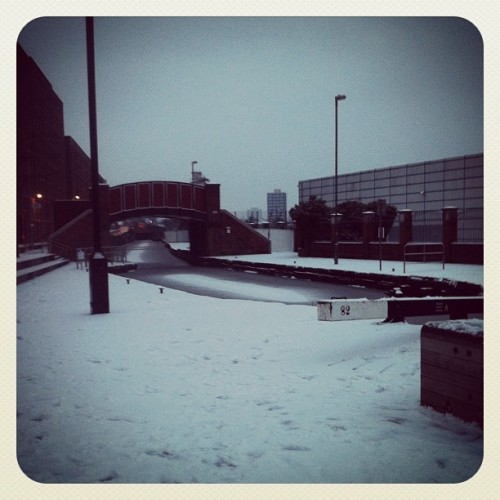Snow Canal (Taken with Instagram at Central Retail Park)