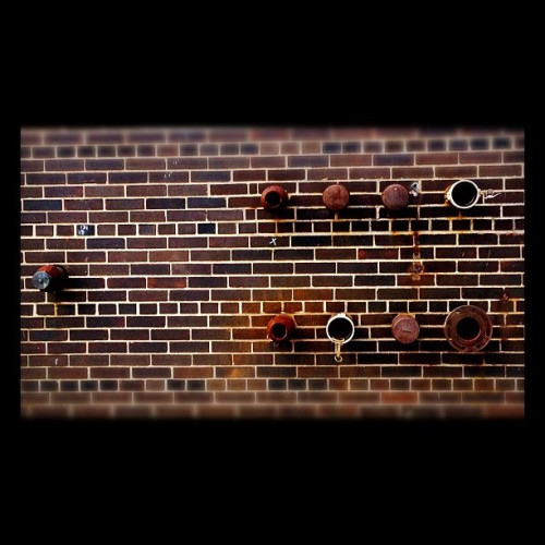 Five #powerplant #nyc #manhattan #photography #ues #iphone4s #brick #rustedpipes (Taken with instagram)
