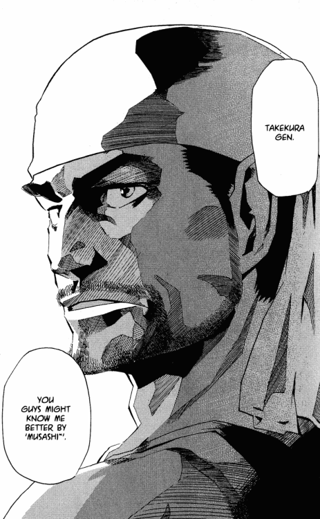 revyl: #eyeshield 21 #o-oh my god #ohhhhh god musashi you are so handsome #TAKE ME NOW #MURATA DRAWS HANDSOME MANLY MEN SO WELL #TO THE POINT THAT I'M STARTING TO HATE HIM FOR IT #FUCK #LOOK AT THAT ART #LOOK AT IT #THE LAYERS OF SHADOWS #AND THE WAY IT CONTRASTS WITH THE LIGHT AS IT HITS MUSASHI'S FACE #I HATE YOU MURATA #WHY ARE YOU SO FUCKING TALENTED  F-FUCK. T-THOSE THAGS