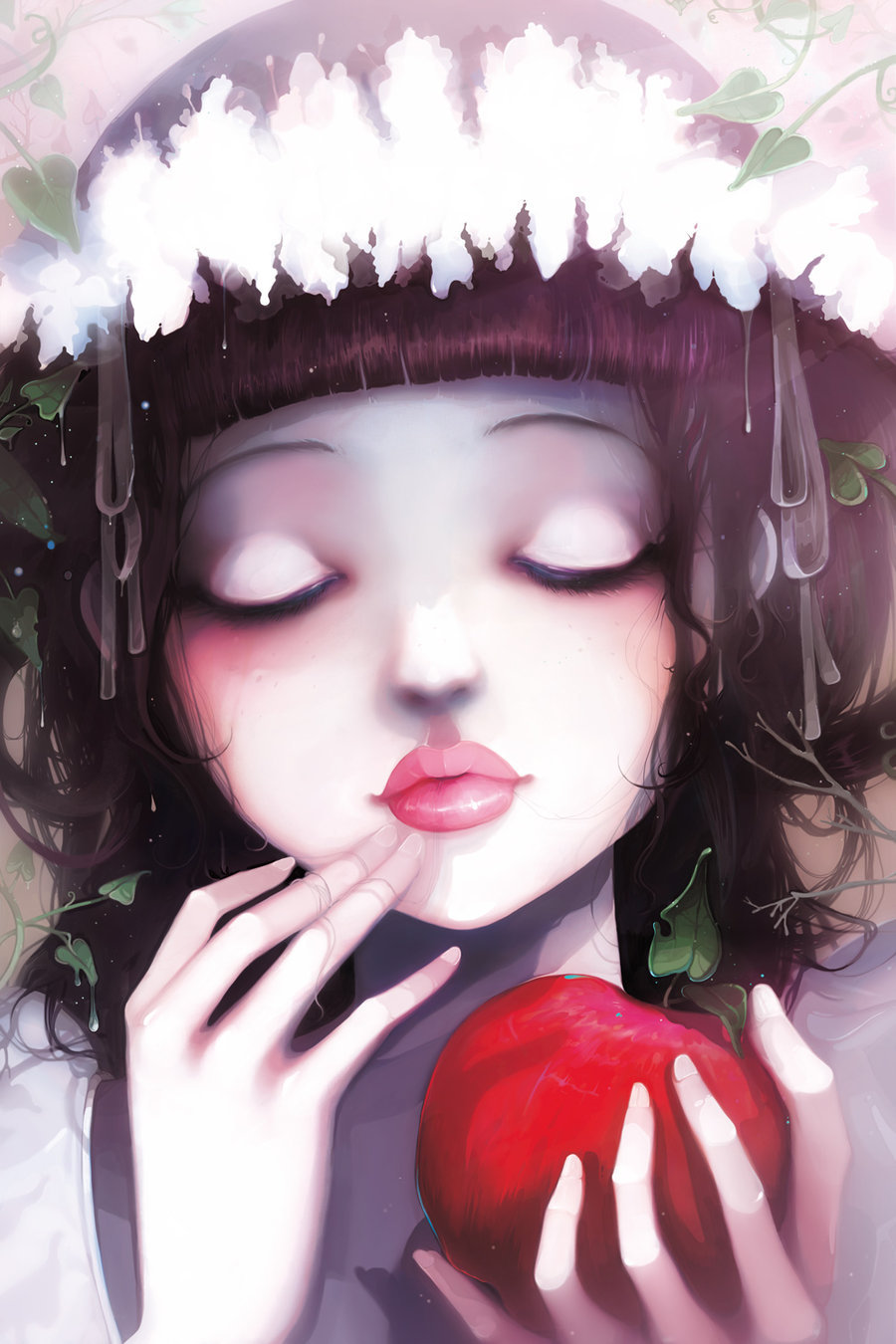 "fairytalemood:  ""Snow White"" by Ludovic Jacqz"