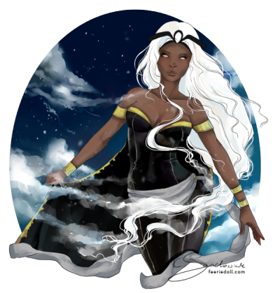 Ororo Munroe.   just some coloring practice…
