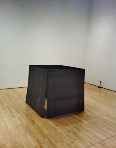 Richard Serra's One Ton Prop (House of Cards) done in 1969. Taken at San Francisco MOMA.