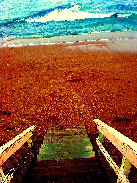 Stairs at Shell Beach by nuclear_rm on Flickr.