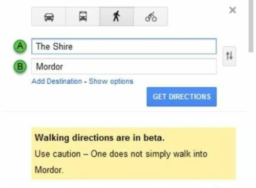 Thank you, Google Maps. haha