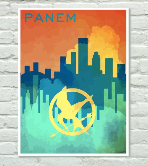 // Limited Edition Panem Hunger Games poster by PersonalPosters4U on Etsy //