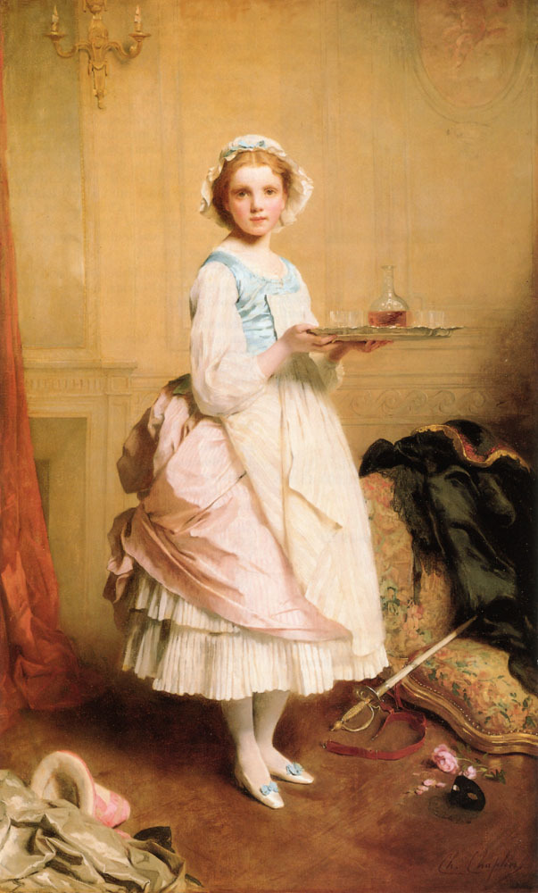 oldrags:  After the Ball by Charles Joshua Chaplin, 1871 The artist did a print version with a title indicating that this is supposed to be a scene from the time of Louis XV (1715-1774).