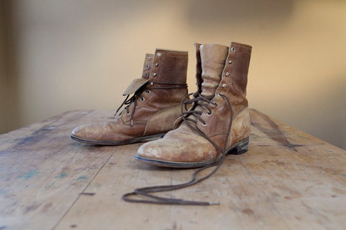 Perfectly worn in boot lust