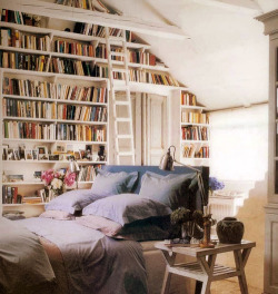 bookmania:  A genuinely romantic bedroom. (via decorology) My dream bedroom!