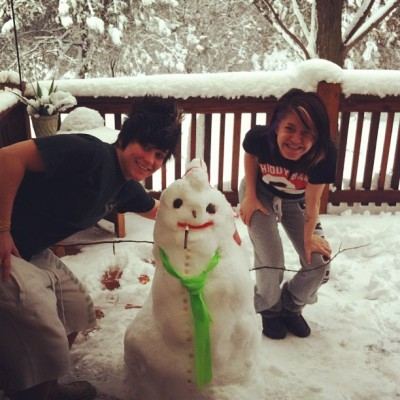 My new friend! Meet Vern the Snowman! :)#snow  (Taken with instagram)
