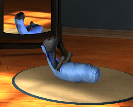 simsgonewrong:  …Don't try editing your baby in CAS.  Eraserhead baby.