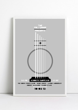 The Full Moon Gig poster created for promoting an acoustic showcase event for The Full Moon.