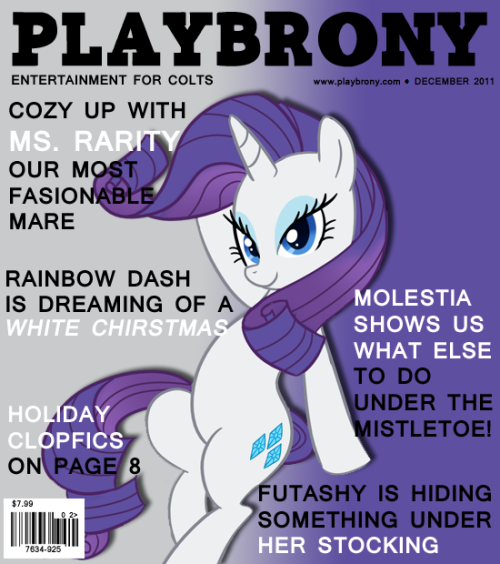 Rarity Playbrony cover December 2011 issue