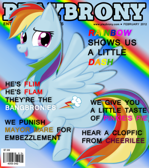 Rainbow Dash Playbrony cover February 2012 issue