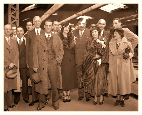 Babe & The Gang Head For Japan - October 1934