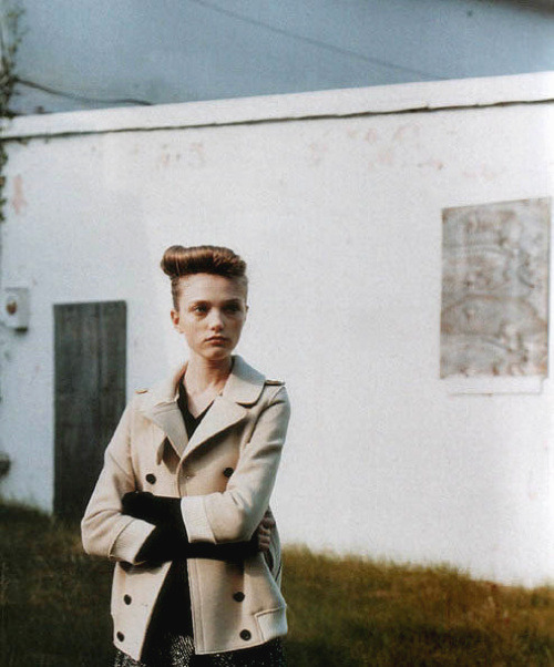"""Vlada"" Model: Vlada Roslyakova Photographer: Nick Haymes Magazine: i-D, 8/05"