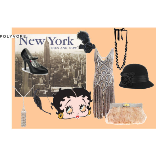 Welcome to Polyvore! by labiondaprof featuring glamorous shoesBeaded dressGlamorous shoes, $64Lanvin tahitian pearl jewelry, $795Fine diamond jewelryVintage style hat, $25Hair accessoryBlack hair accessoryNew York Then and Now (PB), $13Everything Betty Boop, $3.36