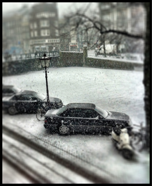 #snow in #amsterdam