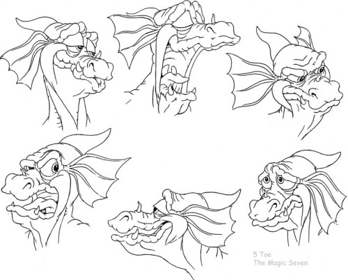 Character expression sheet.