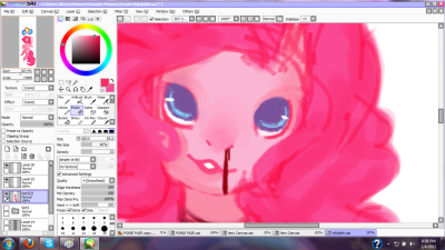 Preview of a picture of Pinkie I'm currently working on after seeing The Woman In Black…. I'm sorry dfshsdkj