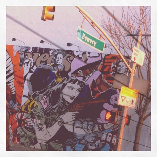 #bowery #art #nyc 🚥 (Taken with instagram)