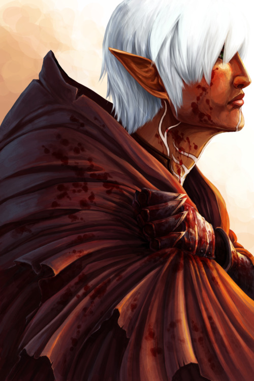 fyexceptionaldaart:  fyexceptionaldaart:  heartbreaker  Featuring Fenris by tsukimeushi  Reblogging   Oh my GOD