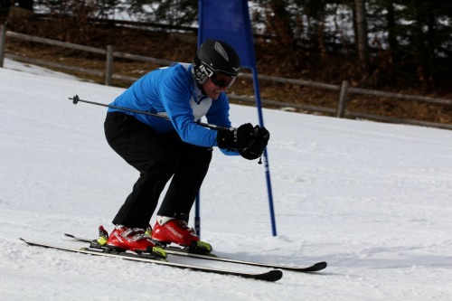 Racing for the CSC Jimmy Fund at Nashoba Valley Ski Area