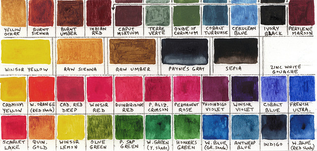 nnautica:  (via Watercolour Box, Colour Chart | Flickr - Photo Sharing!)